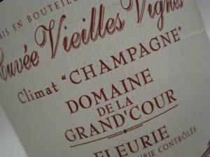 Fleurie VV Champagne