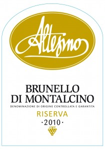 Altesino Brunello RISERVA 2010 Etichetta