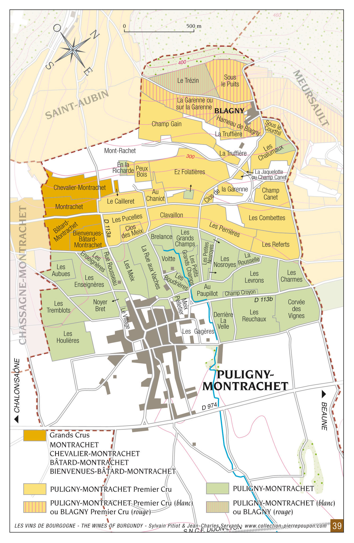 Map AC Puligny-Montrachet