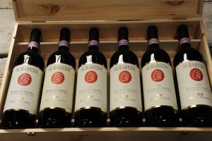 Wijnkistje oude Sforzatos Albareda